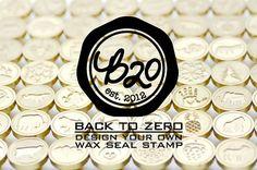 B20デザイン独自のゴールドメッキワックス印鑑 - 10色が利用可能なハンドル