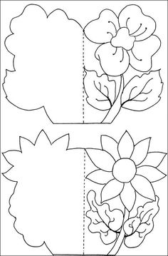 Resultado de imagen para mother day card for coloring Kirigami, Diy And Crafts, Crafts For Kids, Paper Crafts, 8 Martie, Shaped Cards, Mom Day, Mothers Day Crafts, Pop Up Cards