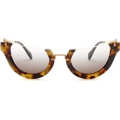 7da7c65483 MIU MIU Women s Rasior Half Rim Sunglasses ( 80) ❤ liked on Polyvore  featuring accessories