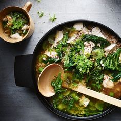 This is one of my all-time favorite chicken soup recipes—it's packed with so many nutritious greens as well as wholesome spelt, with a touch of zesty lemon. It never fails to make you feel great from the inside out.