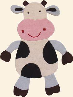 modernrugs.com Kids Cow Modern Rug