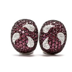 GARAVELLI 10.75cts Diamond Pink Sapphire Gold Earrings | Your #1 Source for Jewelry and Accessories