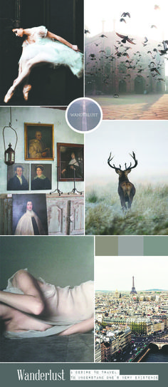 Wanderlust mood board by Christina Greve