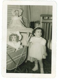 Girl with Dolls -  1950s