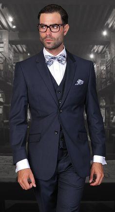 /& Tie Wedding Prom Cruise Mason Black 100/% Wool Tallia Tuxedo with Pants Vest