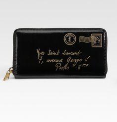Ysl Patent Zip Wallet--want it...nooow!--