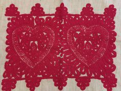 """Vintage transilvanian handmade embroidered red pillow case traditional """"Kalotaszegi írasos """"  made by handwoven linen Hemp Fabric, Red Pillows, Cotton Thread, Craft Supplies, Pillow Cases, Hand Weaving, Textiles, Embroidery, Traditional"""