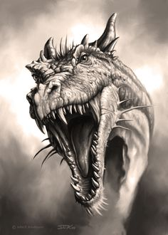 Great traditional #dragon head.