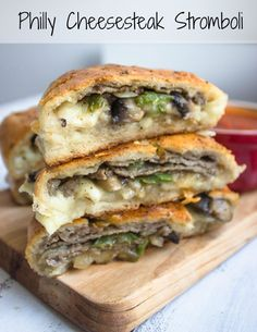 Philly Cheese Steak Stromboli - Brunch Time Baker