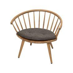Arka lounge chair - jubileum, i ek med sittdyna