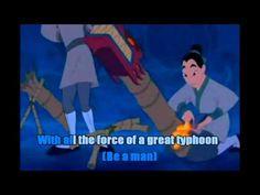 Mulan - I'll Make A Man Out Of You Karaoke - YouTube