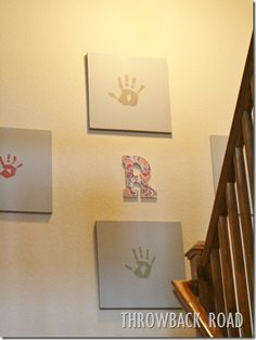 Family Handprint Art...so easy