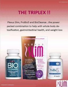 The Tri Plex Combo (60 day money back guarantee) is all about gut health!  Without gut health, it is hard to lose that weight.  The health of your gut is probably one of the most significant factors in being healthy and having a healthy body, fully functioning as it should and regulating your immune system and acting as a filter for toxins.