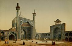Pascal Xavier Coste - View of the Courtyard of the Mesdjid-i-Shah, Isfahan, 1856