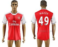 http://www.xjersey.com/201617-arsenal-49-macey-home-thailand-soccer-jersey.html 2016-17 ARSENAL 49 MACEY HOME THAILAND SOCCER JERSEY Only $35.00 , Free Shipping!