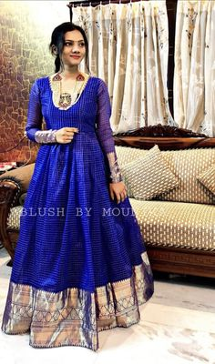 For more Details WhatsApp 9849565683 Silk Kurti Designs, Half Saree Designs, Kurti Designs Party Wear, Saree Blouse Designs, Long Gown Dress, Lehnga Dress, Lehenga, Sarees, Long Frock