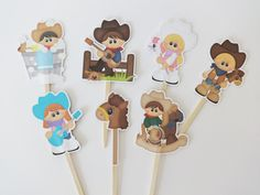 Adorable Western cupcake topper by DianasDen on Etsy