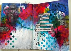 """""""Expect the best...""""  (c) Susie King  Mixed Media Art Journal"""