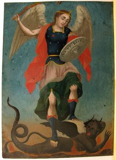 St. Michael the Archangel defend us in battle, be our protection....