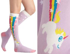 Super comfy socks for you to lounge around in. | 27 Unicorn Fashion Pieces That'll Bring Magic To Your Closet