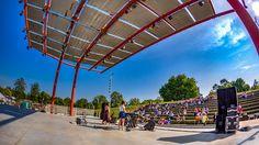 Ampitheater designed by Stanley Saitowitz Columbus Indiana, Fair Grounds, Racing, Park, Photography, Travel, Design, Running, Photograph