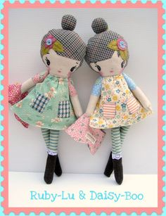 OK!  I had to pin this.....just by doll names alone!....plus the dolls are cute