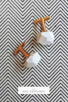 27 MORE Expensive Looking DIY Gifts. Crafts and DIY Gift Ideas for Him, for Her, for Family and Friends. Perfect for Birthday, Christmas, Mom and Dad. | DIY Geo Cufflinks | http://diyjoy.com/homemade-diy-gifts-pinterest