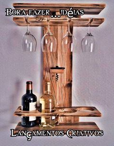 Wine Rack Wall, Wine Glass Holder, Wine Bottle Holders, Wine Bottles, Glass Bottle, Wine Decanter, Wine Rack Design, Rustic Wine Racks, Country Wine Racks