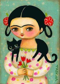 Frida y el gato