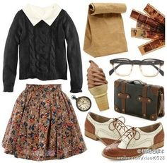 Cool schoolgirl outfit