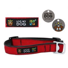 Log My Dog Collar - Red - Log My Dog - Trackables