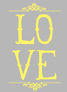 LOVE printable for nursery