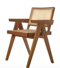 drooling over this France & Son chair. Dining Room Design, Dining Rooms, Dining Chairs, 1950s Design, Pierre Jeanneret, Seat Pads, Office Spaces, Acacia Wood, Home Decor Furniture