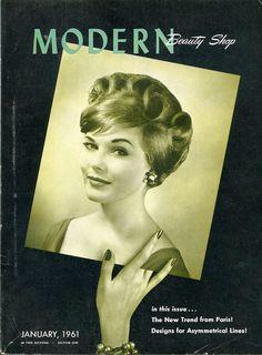 Modern Beauty Shop Magazine, Lot of Three Vintage Hair Salon Periodicals published 1960 & 1961. 55.00, via Etsy.