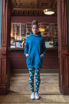 Hupparitunika petrooli XS-XL – Melli Ecodesign High Neck Dress, Sweaters, Dresses, Fashion, Turtleneck Dress, Vestidos, Moda, Fashion Styles, Sweater