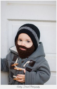 ... new style beard hat black crochet beard hat with detachable beard baby beard  hat lumberjack hat ... 93169f7f25df