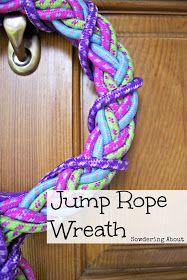 Jump rope wreath