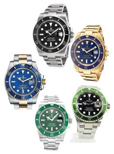 """""""Popular Watches Guide - Rolex Submariner"""" by jackzhang87921 ❤ liked on Polyvore featuring Rolex"""