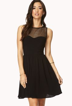 Statement-Making Fit & Flare Dress | FOREVER21 - 2000108197