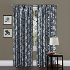 @Overstock - This retro blue geometric curtain panel will bring a funky attitude to any room with a brown circular pattern on faux silk polyester and a rod pocket for easy installation. Set contains one panel and one tieback, with rod and hook sold separately.http://www.overstock.com/Home-Garden/Lush-Decor-Blue-Brown-84-inch-Circle-Charm-Curtain-Panel/6537443/product.html?CID=214117 $36.34