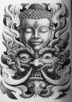 - You are in the right place about (notitle) Tattoo Design And Style Galleries On The Net – Are The - Buddha Tattoo Design, Buddha Tattoos, Tattoo Design Drawings, Japanese Tattoo Art, Japanese Tattoo Designs, Sleeve Tattoos, Body Art Tattoos, Skull Tattoos, Arm Tattoos