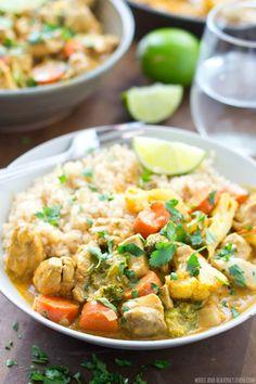 Homemade chicken cur