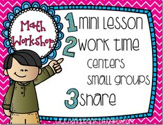 This is an easy to read post on how to structure the Math Workshop time during your day.