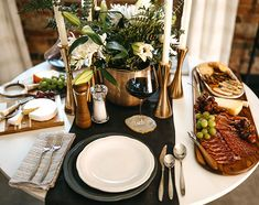 Set a Stunning Thanksgiving Tablescape | LC Living Make A Table, Taper Candle Holders, White Dinnerware, Thanksgiving Tablescapes, Linen Napkins, Different Textures, Holiday Festival, Serving Dishes, Side Dishes