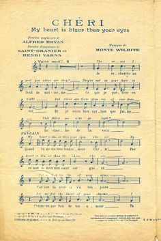 french sheet music from e-vint.com Click through for full size.
