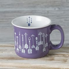 Desert Vibes Arrow Mug- Enjoy sipping your morning tea or coffee with this fun and colorful 12 oz. ceramic arrow mug.