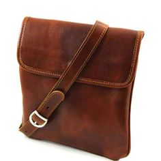Tuscany Leather Joe Brown Leather Crossbody Bag | S BuckinghamsS Buckinghams