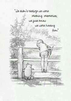 We didn't realize we were making memories. Winnie the Pooh Quotes - classic vintage style poster print Words Quotes, Sayings, Smile Quotes, Quotes Quotes, Winnie The Pooh Quotes, Winnie The Pooh Friends, Disney Winnie The Pooh, Pooh Bear, What Day Is It
