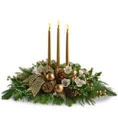 christmas flower designs | Royal Christmas Centerpiece - by La Paloma Blanca Floral Designs