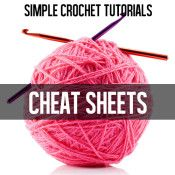 PRINT! Great crochet cheat sheets, including crochet symbols chart: http://dabblesandbabbles.com/wp-content/uploads/2014/02/Crochet-Symbols-Chart1.pdf